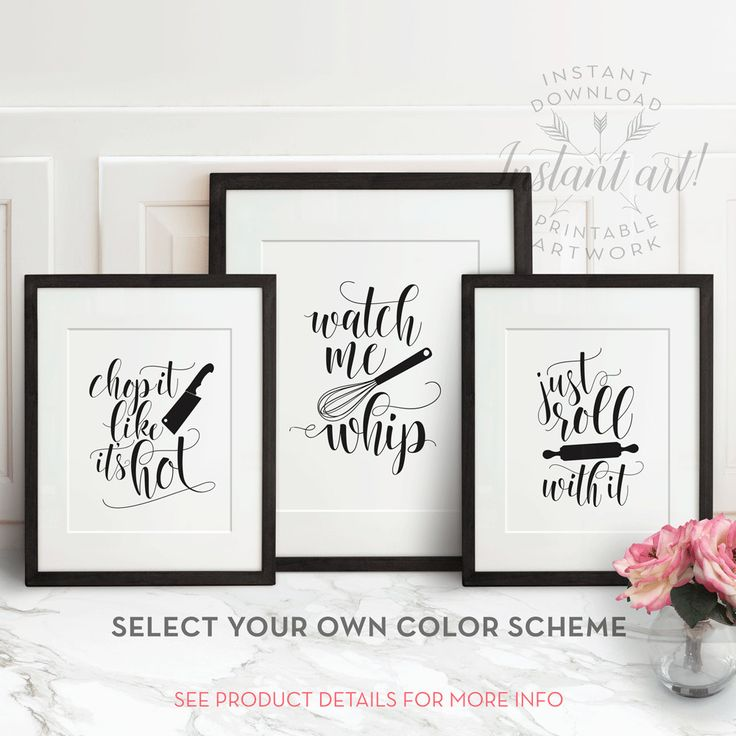 Get all three funny kitchen printables for the price of 2. A zip file including 3 different designs in sizes 5x7, 8x10 and 11x14 (JPG and PDF files) will be available immediately after purchase.  **** CUSTOMIZE YOUR COLOR SCHEME ****  Purchase any BLACK & WHITE printable art from The Crown Prints and get access to my exclusive online color-changing tool, where you can choose any two-color scheme and colorize your art! A password for file-upload access is shared automatically after purchase…