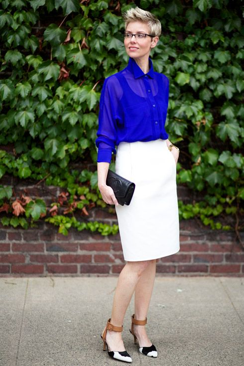 1000+ images about White work outfits on Pinterest | Stylish eve Formal wear and Skirts