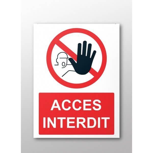 Panneau Rectangulaire De Securite Acces Interdit Pictogramme Securite Panneau Panneau Signalisation