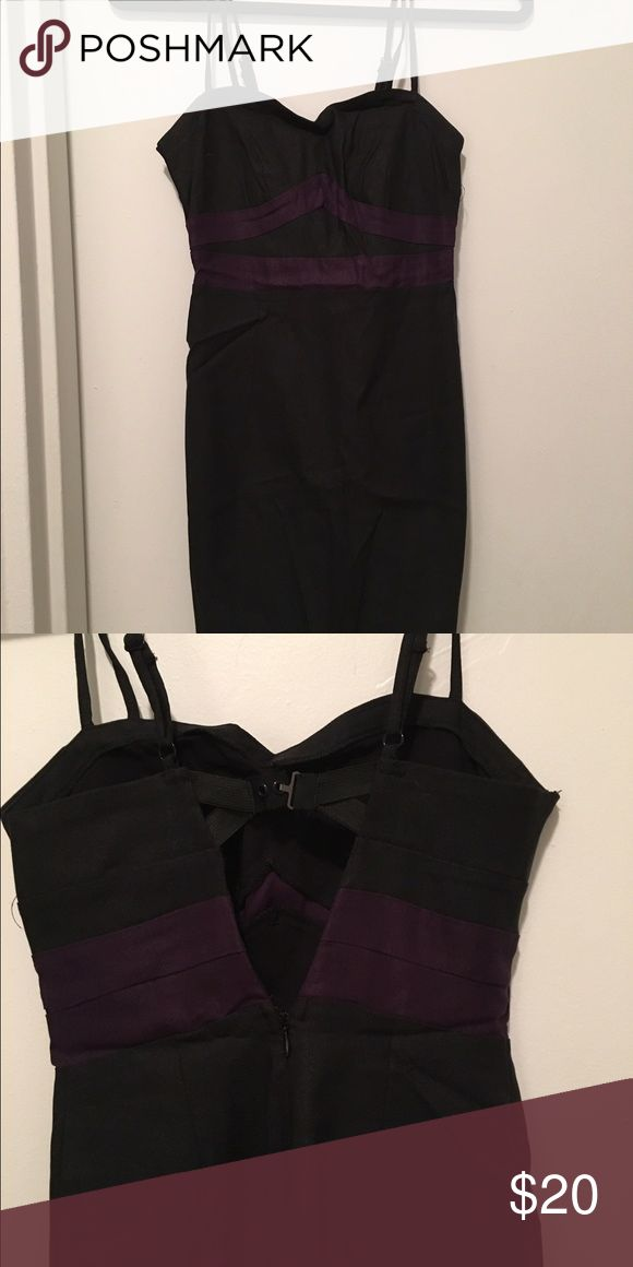party dress black with deep purple detailing 🔥🔥 BLACK FRIDAY SALE 🔥🔥Fun dress for a night out to dinner or drinks can be dressed up or down black with purple detailing sexy back detailing sweetheart shapes neckline Urban Outfitters Dresses Mini