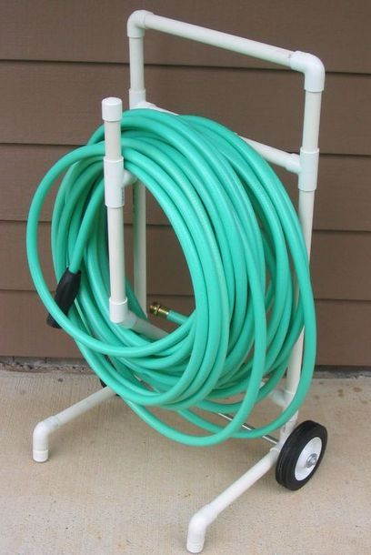 Make weekend watering a bit easier with this clever rolling cart that also keeps your hose neatly wrapped.