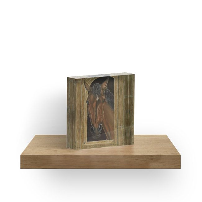 acrylic block, home,office,accessories,decor,items,cool,beautiful,fancy,unique,trendy,artistic,awesome,fahionable,unusual,gifts,presents,for sale,design,ideas,earthly colors,brown,horse,wildlife,animal,equine,portrait,head,redbubble