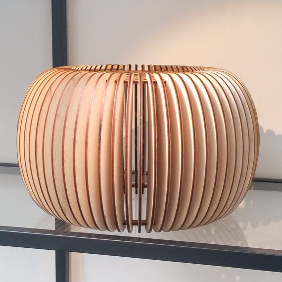 Beautifully Detailed  Wooden Lampshade  Laser Cut  rustic
