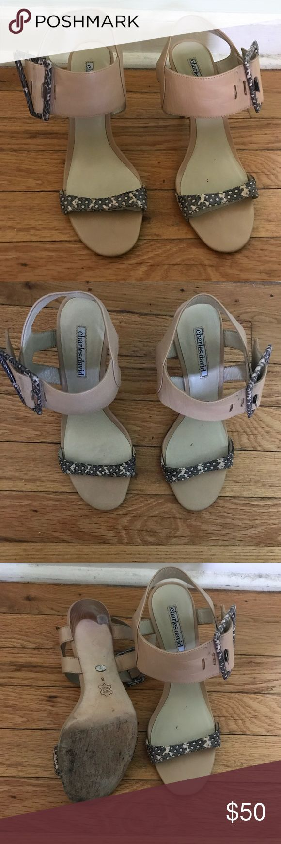 Charles David Snake Print Heels Charles David Snake Print Heels. Great for dressing up or down and in excellent used condition! Charles David Shoes Heels