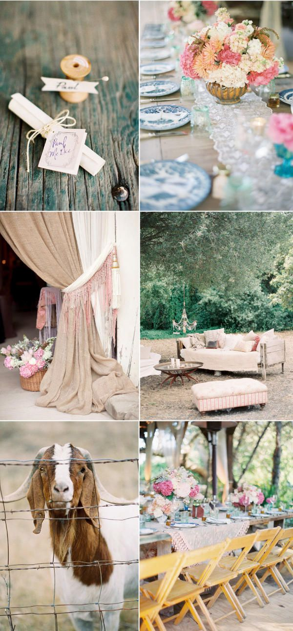 Curtains: Soft Colors, Country Wedding, Rustic Touch, Burlap Curtains, Parties Ideas, Barns Wedding, Curtains Ties Back, Rustic Wedding, Outdoor Lounge