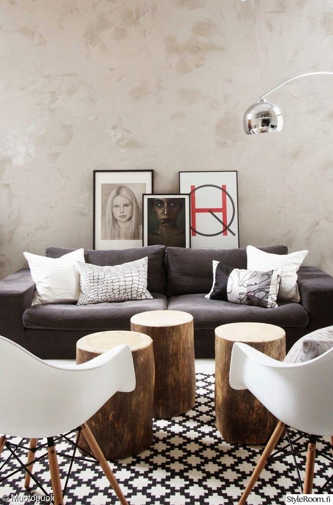 keittiö,remontti,olohuone,Tee itse / DIY,sohva,pölkky,puu,design,sisustustyynyt,julisteet,koristetaulut,taulut,vaaleat sävyt,moderni,minimalistinen,tyylikäs