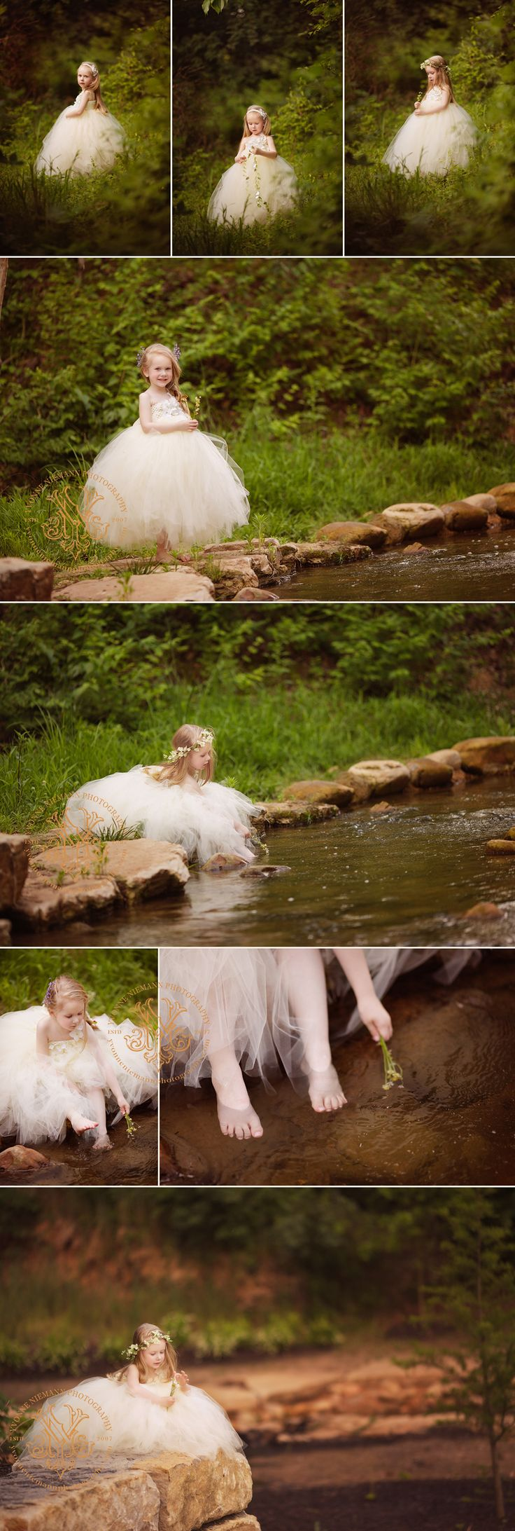 Beautiful forest fairy portraits of a little girl in St. Louis taken by Yvonne Niemann Photography