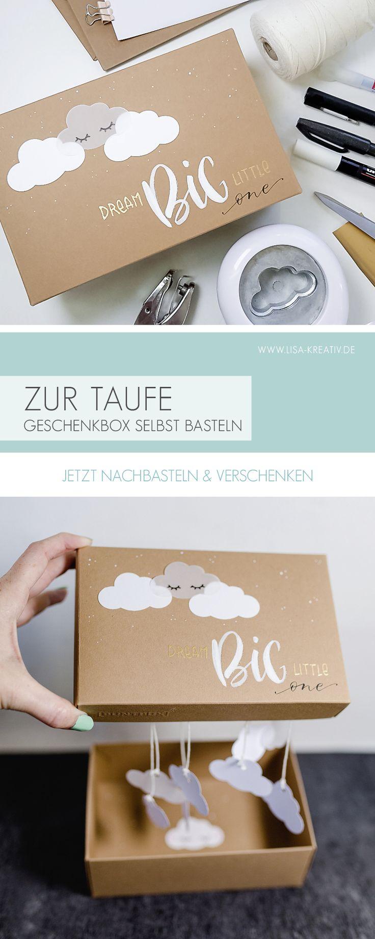 Geschenk-Box zur Taufe!  Schnell und einfach selbstgemacht! Sie dir das DIY-Vide… – lisa-kreativ.de / Lettering & Watercolor