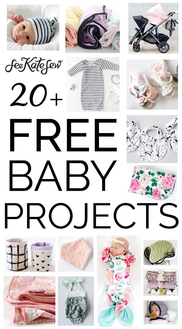 I�ve been doing a lot of baby sewing lately, SO MUCH! There is just nothing like sewing for a baby! Here are 20 free baby sewing projects from the blog!From simple paint splattered bibs to adorable rompers, there are a lot of fun things to make, use and