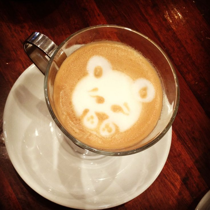 Coffee art: everybody loves teddy bears !!  Poured by me