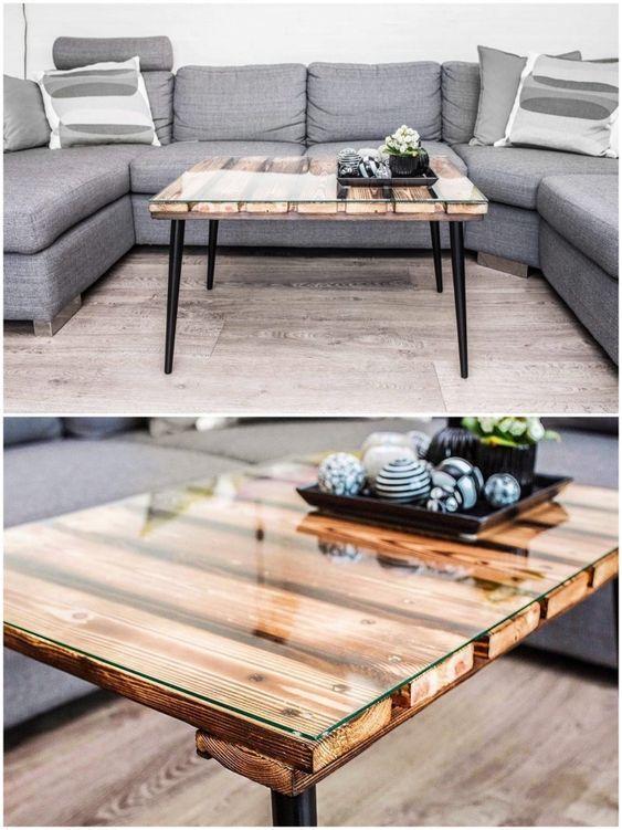 20 Astuces Brico Comment Fabriquer Une Table Basse En Palettes Tuto Simple Pour Fabriquer Une Ta En 2020 Table Basse Palette Table Basse Fabriquer Une Table Basse
