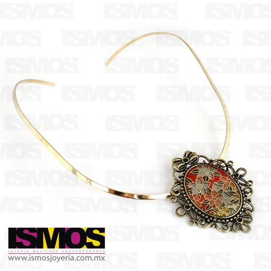 ISMOS Joyería: collar dorado  vintage // ISMOS Jewelry: vintage style necklace