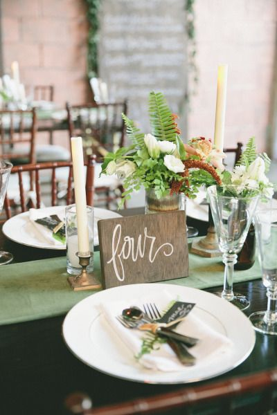 Rustic table setting: http://www.stylemepretty.com/2014/02/28/botanical-inspired-wedding-at-marvimon/ | Photography: onelove photography - http://onelove-photo.com/
