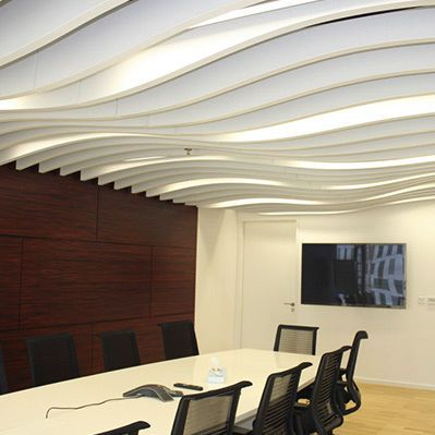 Controsoffitto in metallo / in pannello / decorativo LINDNER BAFFLE CEILINGS Lindner Group