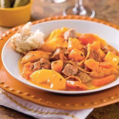 Mijoté de veau à la courge et aux pommes - Recettes - Cuisine et nutrition - Pratico Pratiques