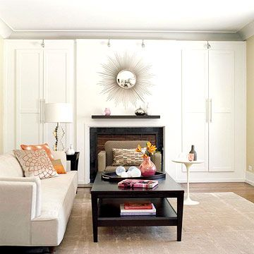 My home style is modern but mixed with a few antique or rustic elements to give it an eclectic feel.  To add an ethnic charm, I decorate with pillows, throws and other decor items in bold colors and prints.: Modern Living Rooms, Family Friends Modern, Living Rooms White, Interiors Design, Modern Style, Contemporary Living Rooms, Colors Pillows, Modern Design, Home Style