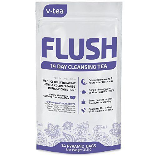 v tea 14 Day Detox Tea Evening Flush Teatox Gentle Colon Cleanse to Remove Toxins Reduce Bloating and Constipation 100 Organic 14 Pyramid Sachets >>> Continue to the product at the image link.
