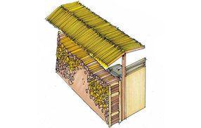 Idee: Kombination von Müllbox und Aufbewahrung des Feuerholzes