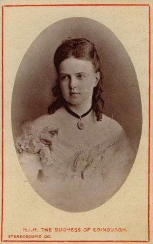 Grande duchesse Maria Alexandrovna de Russie (1853-1920) épouse du prince Alfred de Saxe-Cobourg