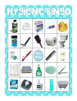 Hygiene and Bathroom Item Photo Bingo!!