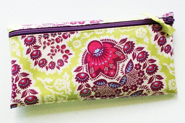 Fabric money envelope wallet with dividers | green…