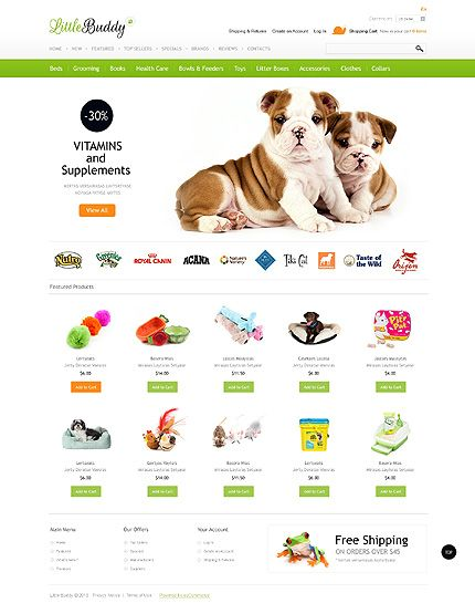 Pet Shop OsCommerce Template #website http://www.templatemonster.com/oscommerce-templates/42867.html?utm_source=pinterest&utm_medium=timeline&utm_campaign=pop