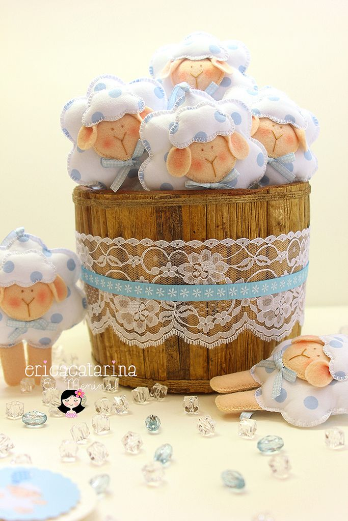 ♫~We are the blue sheep ♫~ Sweet Chubby Blue Lambs Felt Animals by Erica Catarina