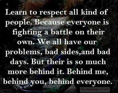 Respect Others Quotes | life inspiration quotes: Respecting others inspirational quote
