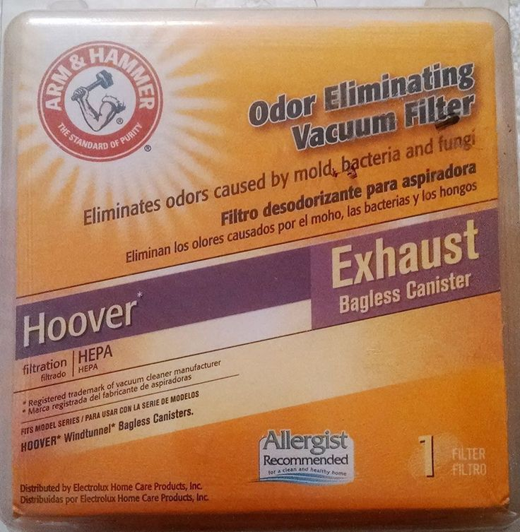 Arm & Hammer Hoover Exhaust Vacuum Filter 64560 Bagless Canister  #ArmHammer