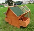 "PRO 64"" Rabbit Hutch Chicken Coop hen House Small Animal Cage w 4 Nesting Boxs - http://pets.goshoppins.com/backyard-poultry-supplies/pro-64-rabbit-hutch-chicken-coop-hen-house-small-animal-cage-w-4-nesting-boxs/"