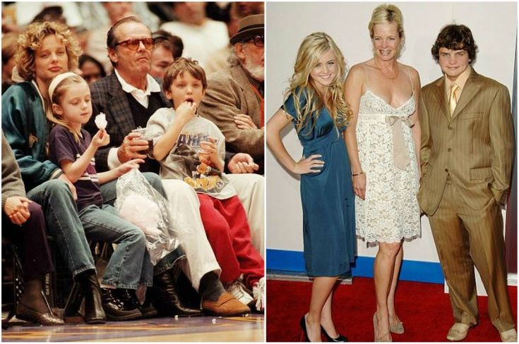 Jack Nicholson with Rebecca Broussard and their kids - son Ray and daughter Lorraine Nicholson