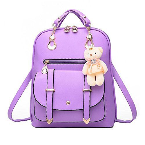 New Trending Backpacks: xhorizon TM FL1 Fashion Casual Cute PU Leather School Bag Backpack Shoulder Bag (Purple). xhorizon TM FL1 Fashion Casual Cute PU Leather School Bag Backpack Shoulder Bag (Purple)   Special Offer: $21.49      200 Reviews xhorizon Fashion Casual Cute PU Leather School Bag Backpack Shoulder Bag Product Features: -100% brand new! Made of PU leather. -School style backpack,sturdy...
