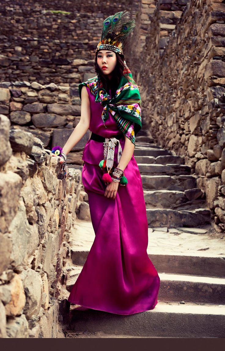 HanHyeJinVK07 Han Hye Jin Embraces the Colors of Peru in Vogue Koreas July Issue by Alexander Neumann