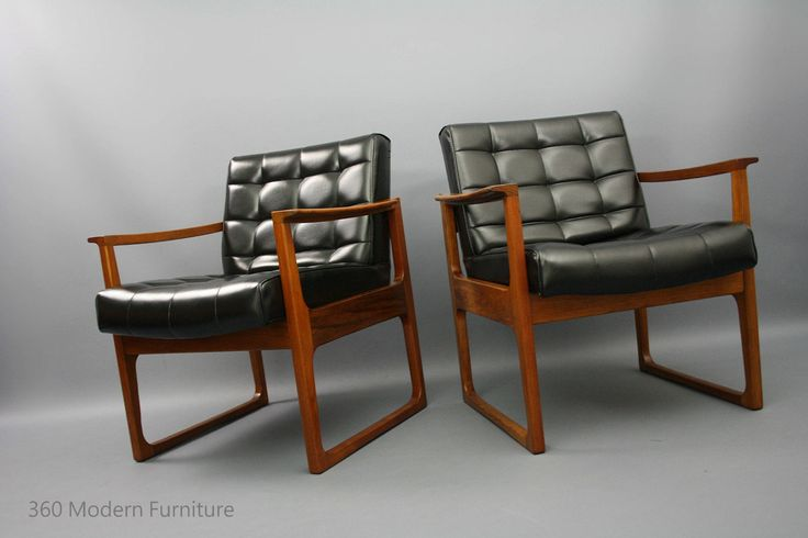 MID Century Armchairs X 2 Gerald Easden for Module 1970s Retro Vintage Lounge Chairs Danish ERA in VIC | 360 Modern Furniture eBay