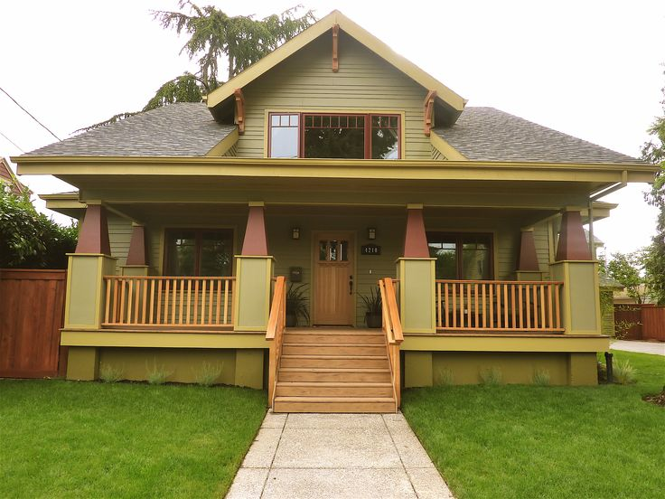 Two shades of green bungalow exterior colors pinterest for Classic house colors