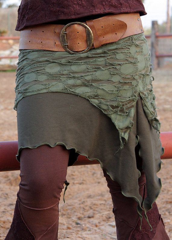 Pointy Double Layer Skirt Green by LunaDesignn on Etsy, $52.00