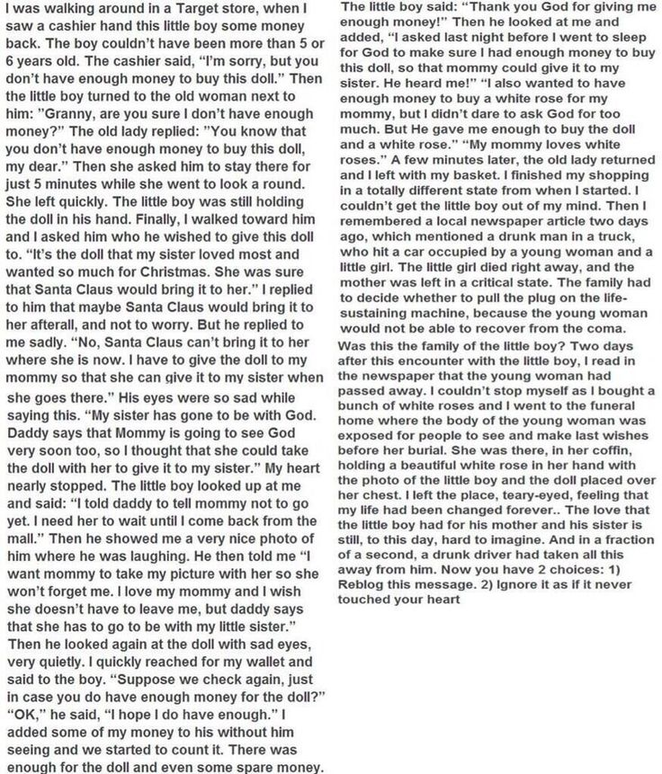 Read this to the very end u need to know this story it could possible change ur perspective of life