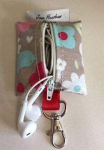 Earbud case,Headphone case,Earphone organiser,Earbud keychain,Multi Oilcloth  | eBay