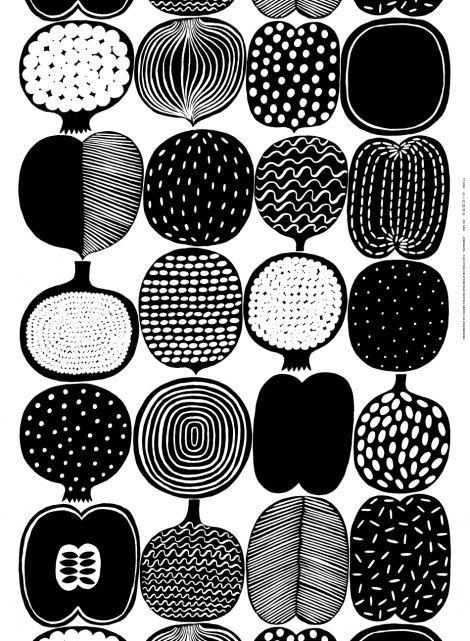 Marimekko Olkalaukku Musta : Inspiraatio designstudio piia vatruska kangas
