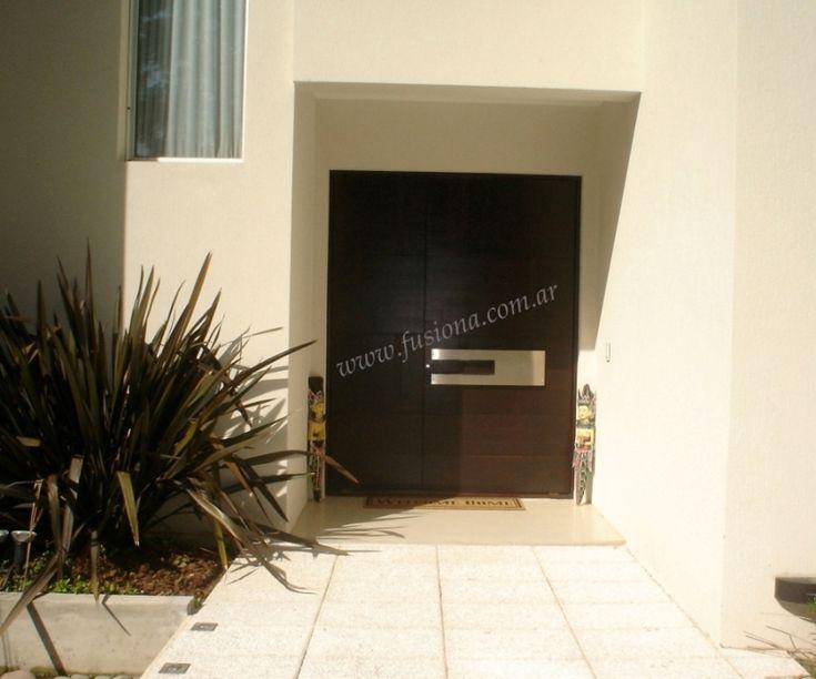 M048-1 puerta de madera con manijon especial