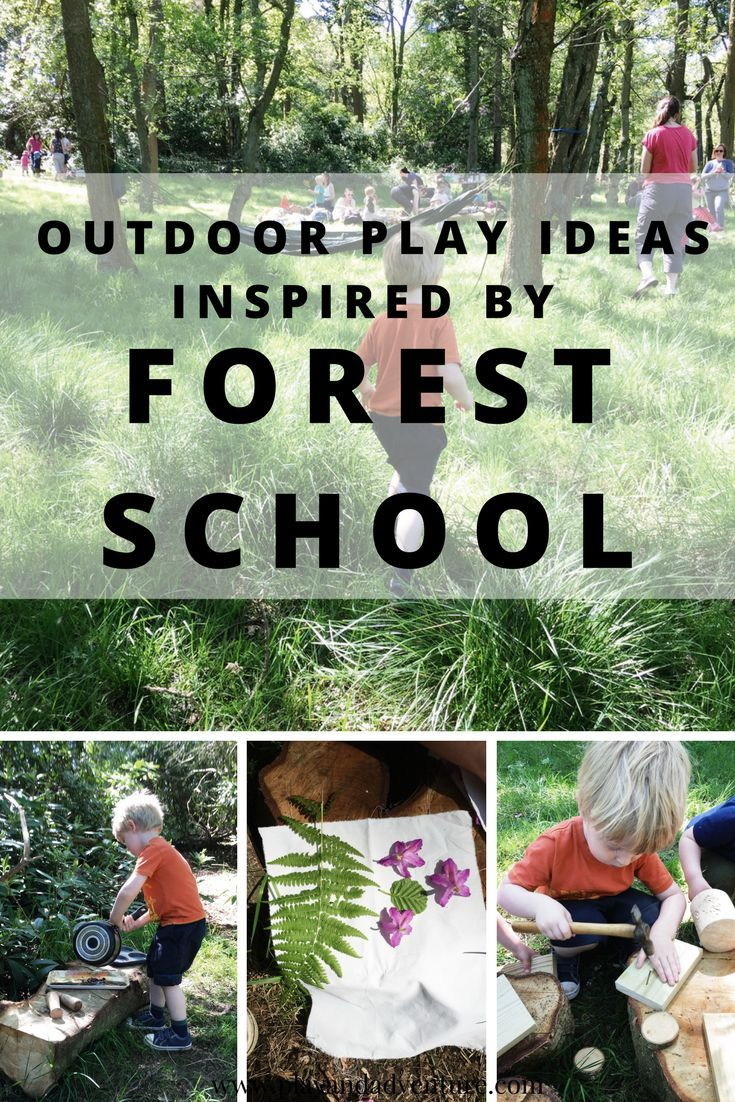 Outdoor play ideas for children inspired by forest school. Read here for some easy-to-do activities to try at home.