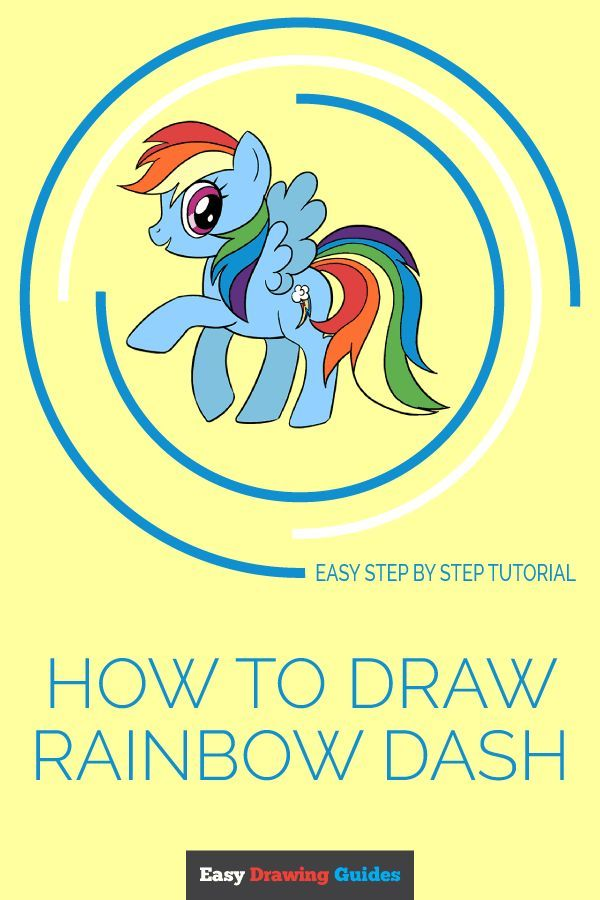 How To Draw A My Little Pony Rainbow Dash My Little Pony Drawing