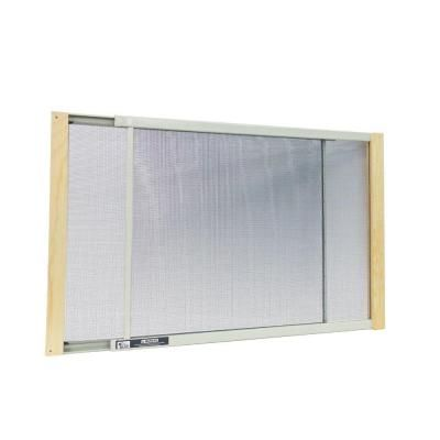 W B Marvin 21 - 37 in. W x 18 in. H Wood Frame Adjustable Window Screen-AWS1837 - The Home Depot