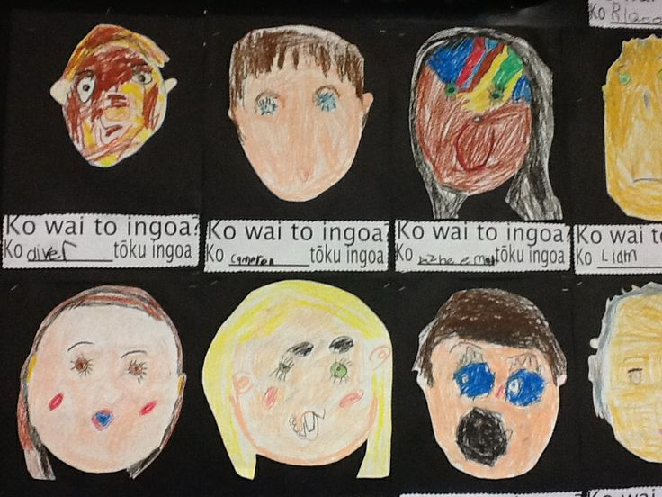 Children draw themselves and ask the question What is your name? and say My name is..... In Te reo