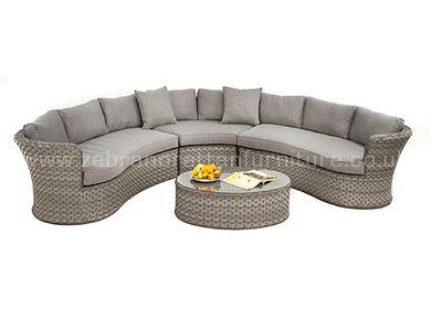 Victoria Wide Weave Rounded Corner Sofa 2.55m x 2.55m £899 in stock