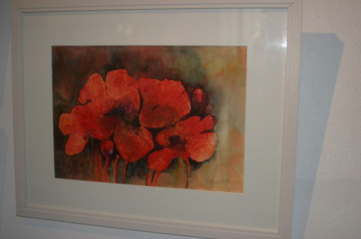 42. Poppies, a Memory, Watercolour and Ink by Esther Heffernan