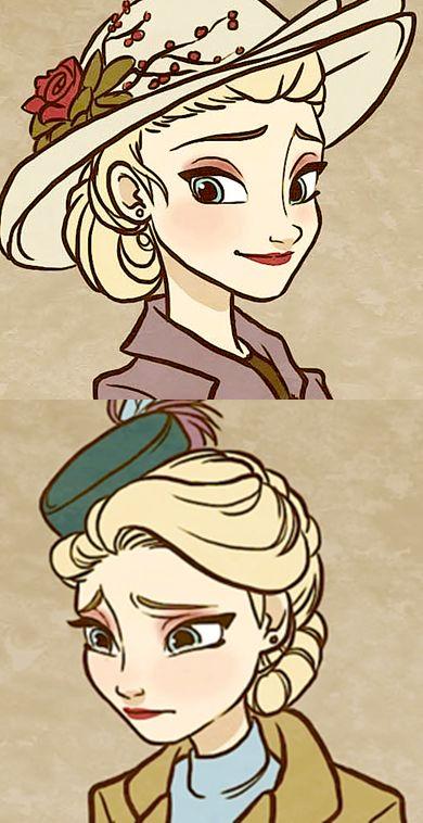 http://nightliight.deviantart.com/art/Till-We-Meet-Again-Character-Outfits-481450503 40's Elsa