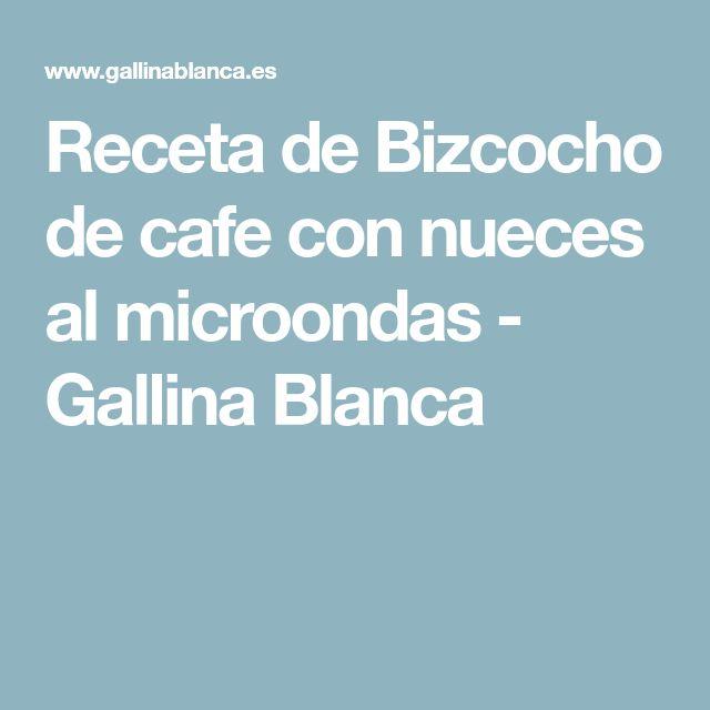 Receta de Bizcocho de cafe con nueces al microondas - Gallina Blanca
