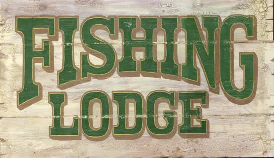 CUSTOMIZABLE Vintage Fishing Lodge Wood Sign Art