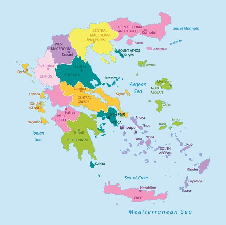 Best Greece Map Ideas On Pinterest Greece Trip Trips To - Greece map